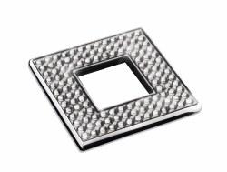 "Diamond Square Knob 2-3/8"" in Polished Chrome with Swarovski"