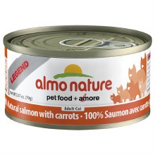 Salmon & Carrots, Case of 24, 70g Cans