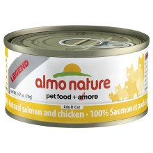 Salmon & Chicken, Case of 24, 70g Cans