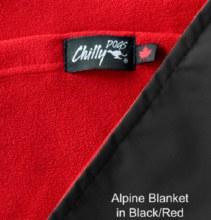 Alpine Blanket, Black & Red