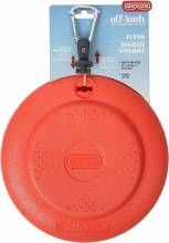 Off-Leash Frisbee Flyer Floating Dog Toy with Removable Leash Attachment