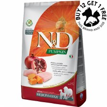 Farmina N&D Pumpkin, Chicken & Pomegranate Medium & Maxi 2.5kg
