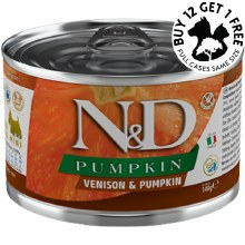 Venison & Pumpkin for Adult Dogs, Case of 6, 140g Cans