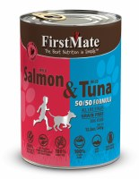 50/50 Wild Salmon and Wild Tuna, Case of 12, 345g Cans