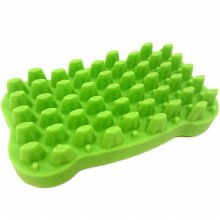 Silicone Bone Brush, Green