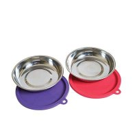 Stainless Steel Bowls with Silicone Cover, Pack of 4