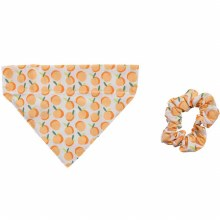 Peach Bandana & Scrunchie Set