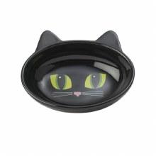 """Frisky Kitty Oval, Black 5"""""""