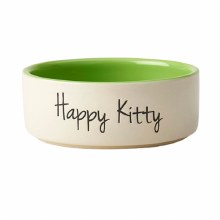 """Happy Kitty Bowl, Lime Green 5"""""""