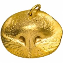Custom Gold Pet Nose Print Pendant