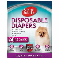 Disposable Female Diapers, Extra-small