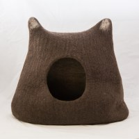 Wool Cat Cave - Kitty, Brown