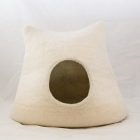 Wool Cat Cave - Kitty, White