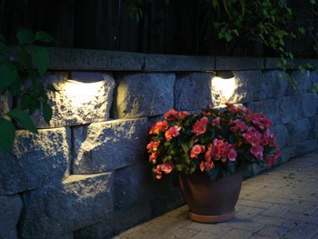 Brick Paver or Retaining Wall Low Voltage Lights