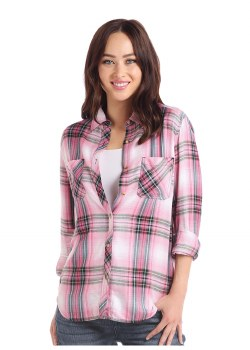 Boyfriend Plaid Pink MED