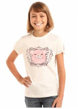 Girls T-Shirt Pig S