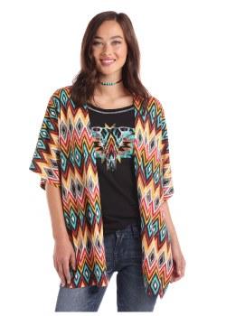 Lds Multi Print Kimono LG
