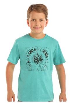 Boys Print Tshirt Teal XS