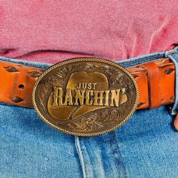 Just Ranchin' Buckle
