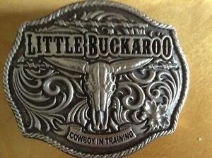 Little Buckaroo Skull Buckle