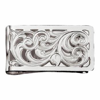 Silver Filigree Square Money Clip