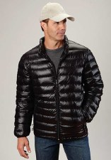 Mens Crushable Parachute Jacket Blk XLAR