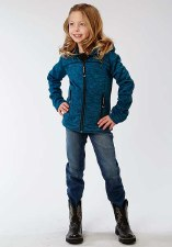 Girls Raingear Jacket Peacock XL