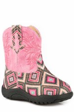 Infants Pink Diamond Glitter Boot 2