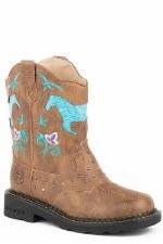 Kids Boot Tan Saddle Vamp 3