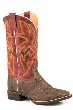 Burnished Red/Brown Caimen Boot 9 1/2 D