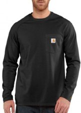 FORCE COTTON L/S TEE BLK 3XL REG