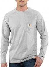 FORCE COTTON L/S TEE HTGREY 3XL REG