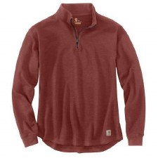 Tilden Mock Neck Qtr Zip Sable LRG REG