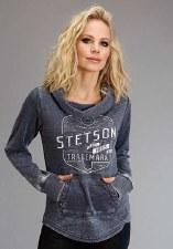 Stetson Cowl Neck Sweatshirt Navy MED