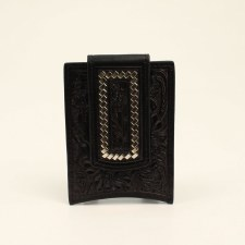 Floral Money Clip Black