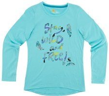 Stay Wild and Free Tee Blue 5