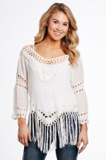 Crochet Fringe Top MED