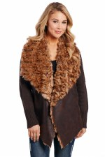 Shearling Knit Jacket Mocha SML