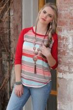 3/4 Sleeve Knit MED