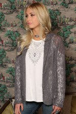 Lace Blazer Grey MED
