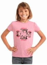 Girls R&R Aztec Horse Pink XL