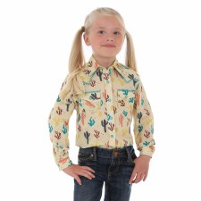 Girls Cactus Snap Multi XS