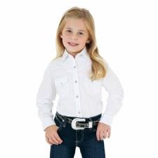 Girls Western Shirt Rhinestone Snaps XS