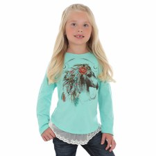 Horse Feather Top Mint XL