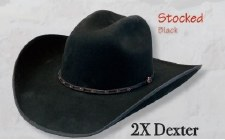 2X Dexter Black 7 5/8 LG OVAL