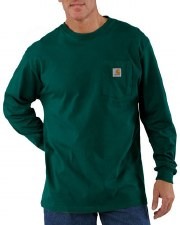 MNS POCKET L/S TEE HUNTER GREEN 4XL REG