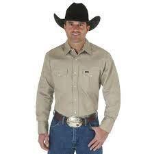 Cowboy Cut Western Work Khaki MEDIUM REG
