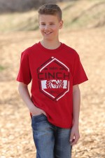 Cinch Boys Tee RED XL