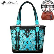 Montana West Concho Tote Black