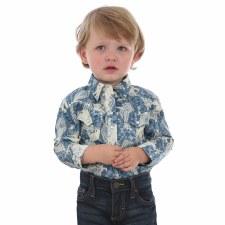 Wrangler Baby Print Bodysuit Blue 3-6M